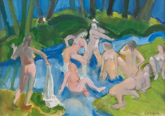 Bathers After Cezanne II