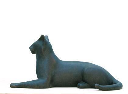 Gwynn Murrill George Lying Cat (black)