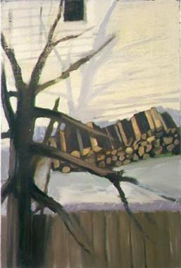 Woodpile 2004 oil on linen
