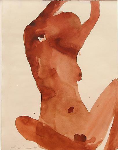 Nathan Oliveira Santa Fe Nude 13, 1999