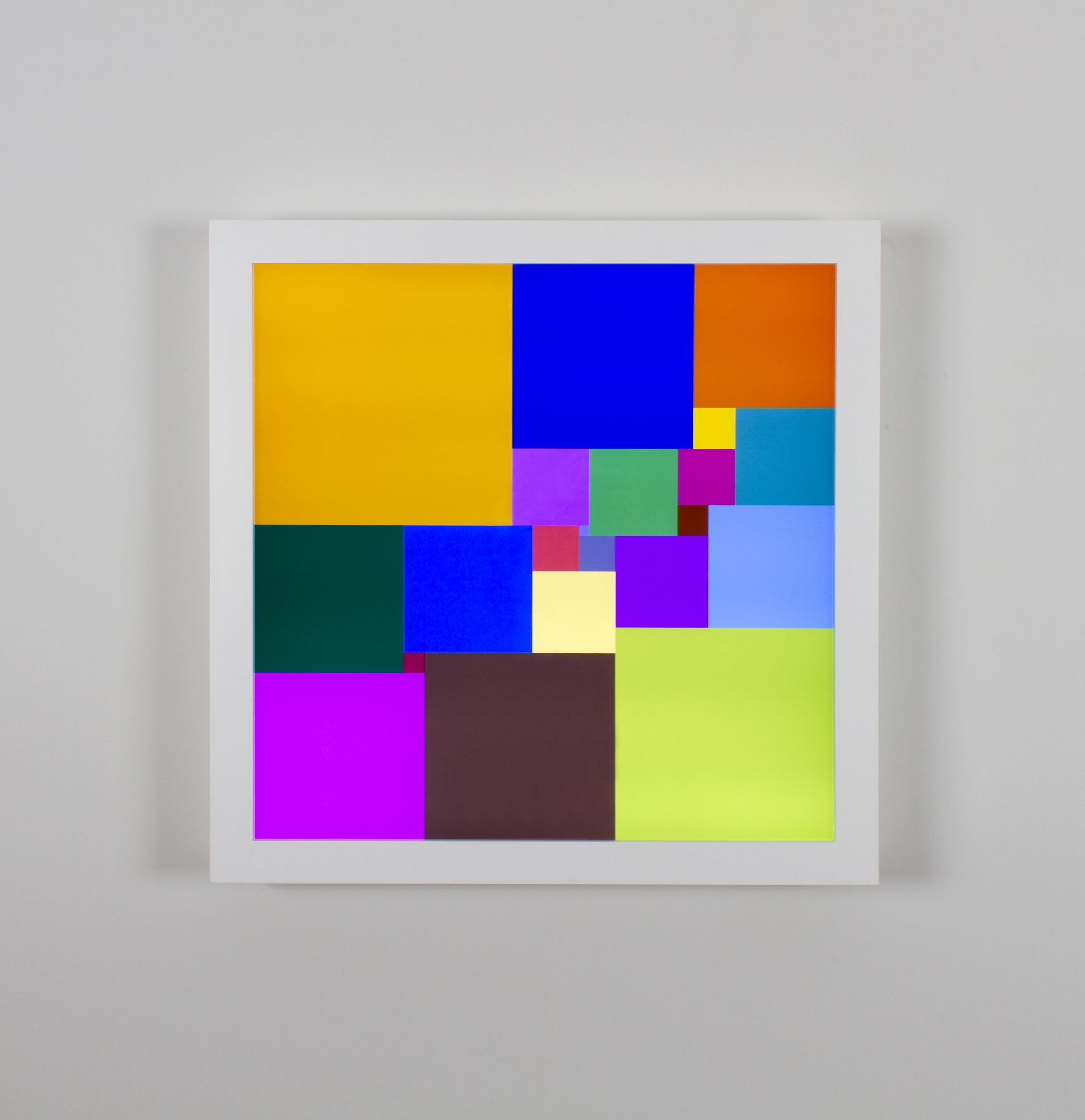 Spencer Finch Squared Square (21), 2018