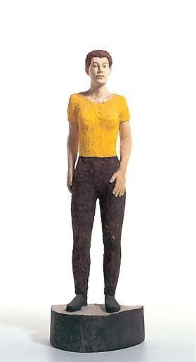 Stephen Balkenhol Large Woman with Yellow Shirt