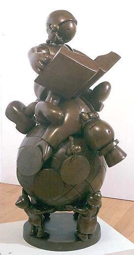 Tom Otterness Educating the Rich on Globe