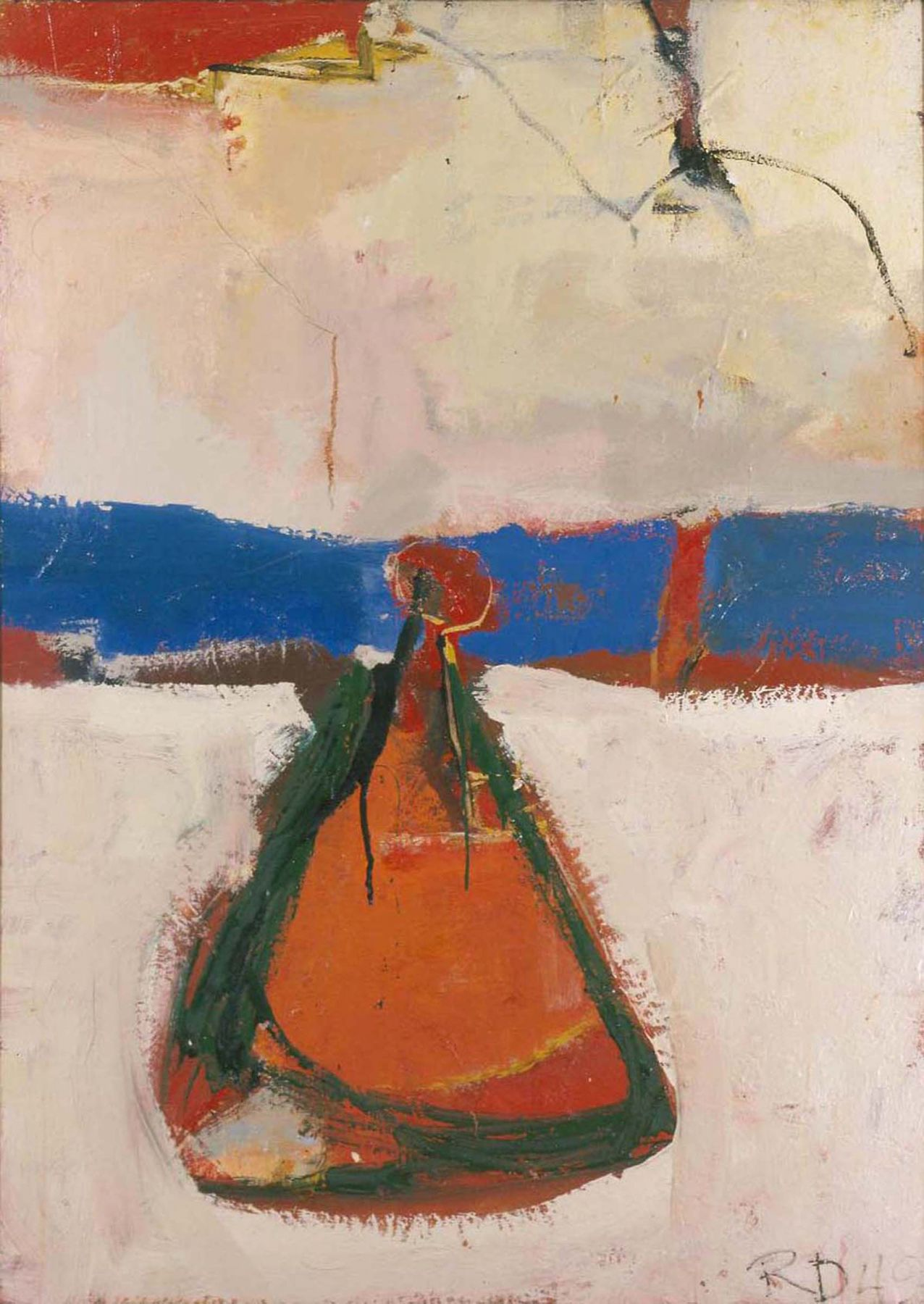 Richard Diebenkorn Untitled 1949 oil on canvas 46 x 32 7/8 inches