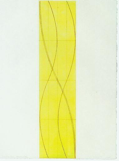 Robert Mangold Double Line Column Study