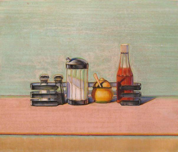 Wayne Thiebaud Caged Condiments, 2000