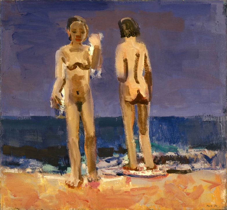 David Park Bathers on the Beach 1956 oil on canvas 56 x 60 inches