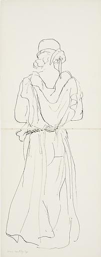 Femme en Robe Longue de Dos 1930,