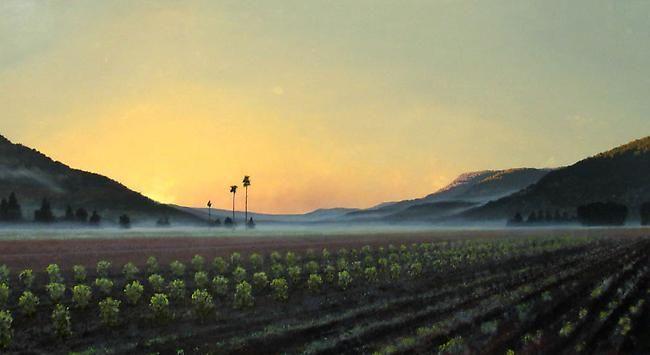 Stephen Hannock Napa Dawn, Golden Light