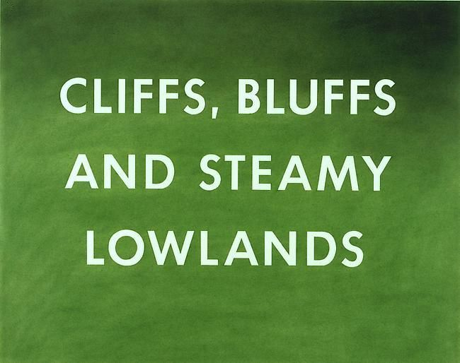 Ed Ruscha Cliffs, Bluffs, and Steamy Lowlands