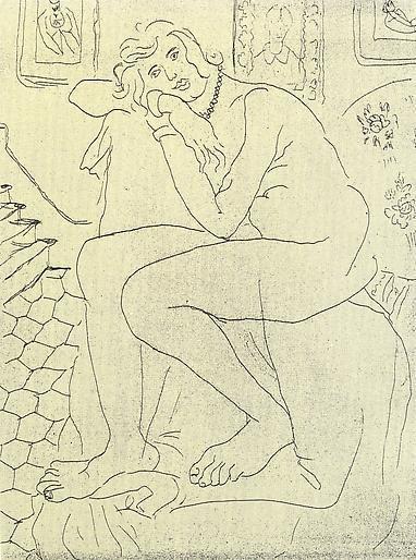 Nu assis et portrait de Madame Cézanne 1929,