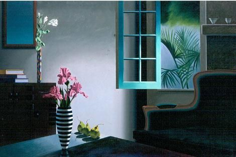 Bruce Cohen Interior with Lonte XV Chair and Harlequin Vase