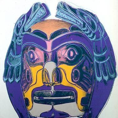 Andy Warhol Cowboys and Indians: Northwest Coast Mask, 1986