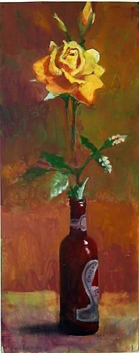 Paul Wonner Flowers in Bottles: Yellow Rose, 2000-2002