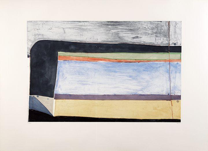 Richard Diebenkorn Indigo Horizontal,1985