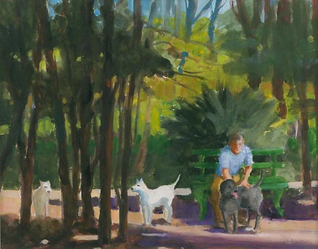 Paul Wonner In the Park II, 2002