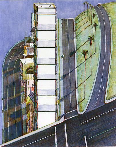 "Wayne Thiebaud Palm Ridge from ""Recent Etchings II"", 1979"