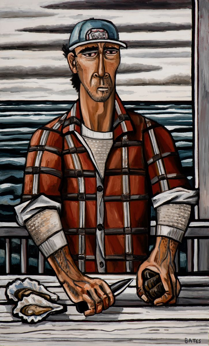 David Bates, The Oyster Shucker, 2016