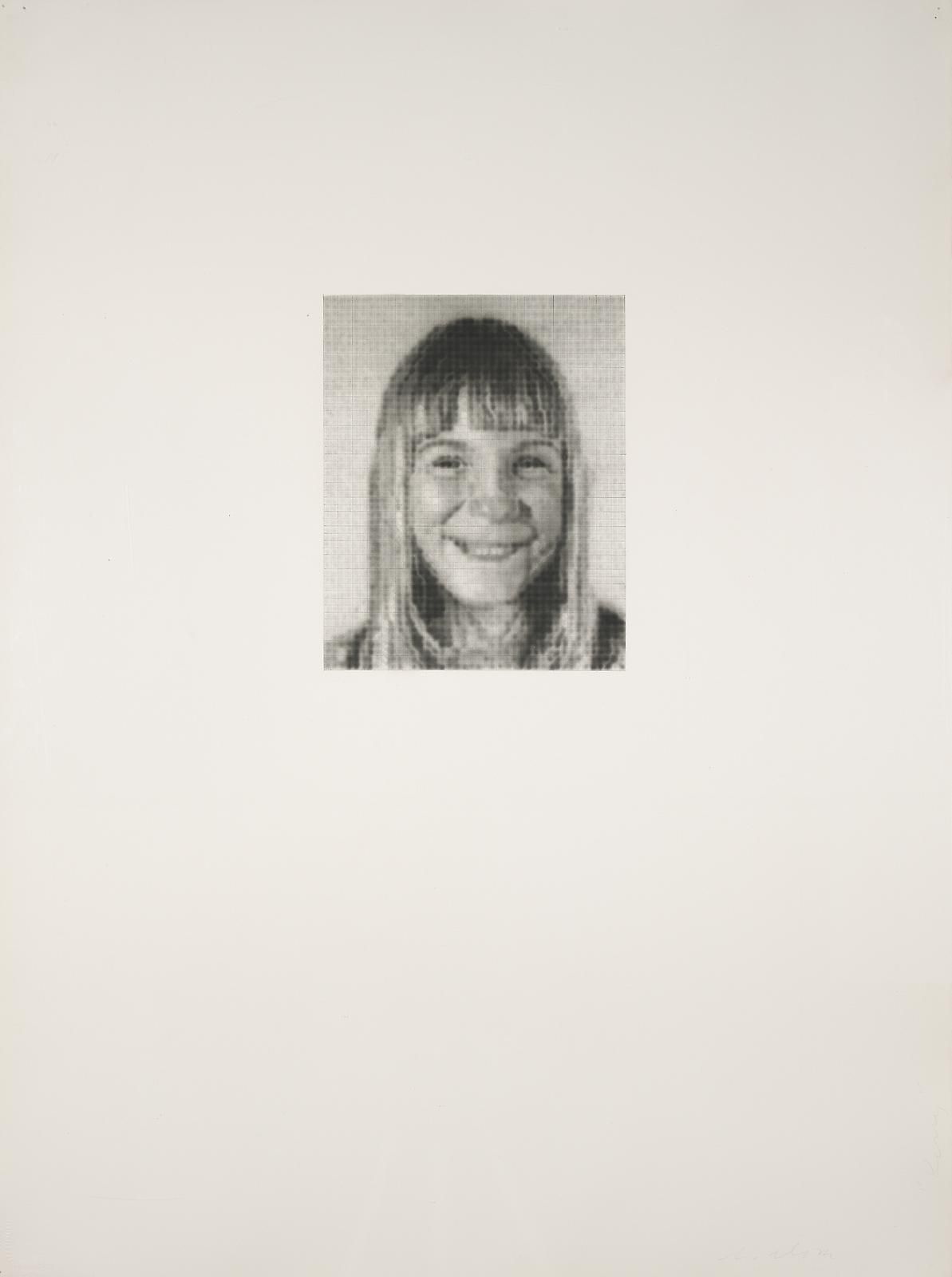 Chuck Close Kerry P., 1974