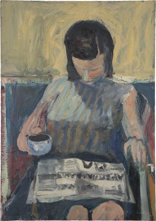 Richard Diebenkorn, Woman with Newspaper, 1960