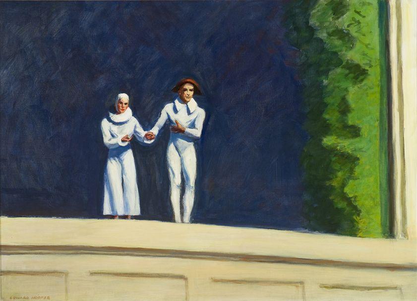 Edward Hopper, Two Comedians, 1966