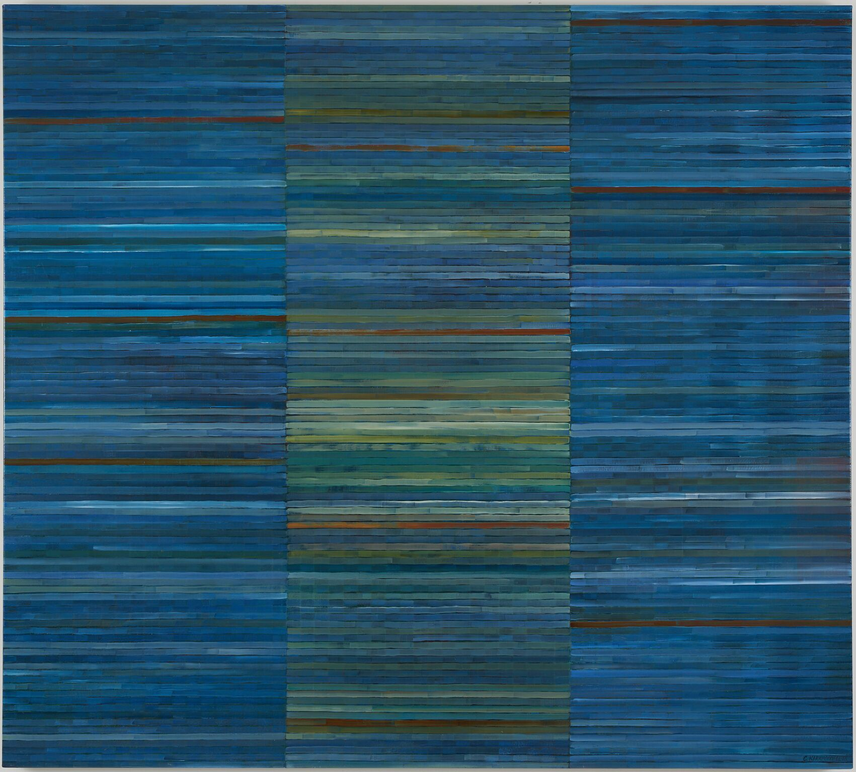 Clare Kirkconnell Strip Bars I (Indigo Version), 2018