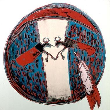 Andy Warhol Cowboys and Indians: Plains Indian Shield ,1986