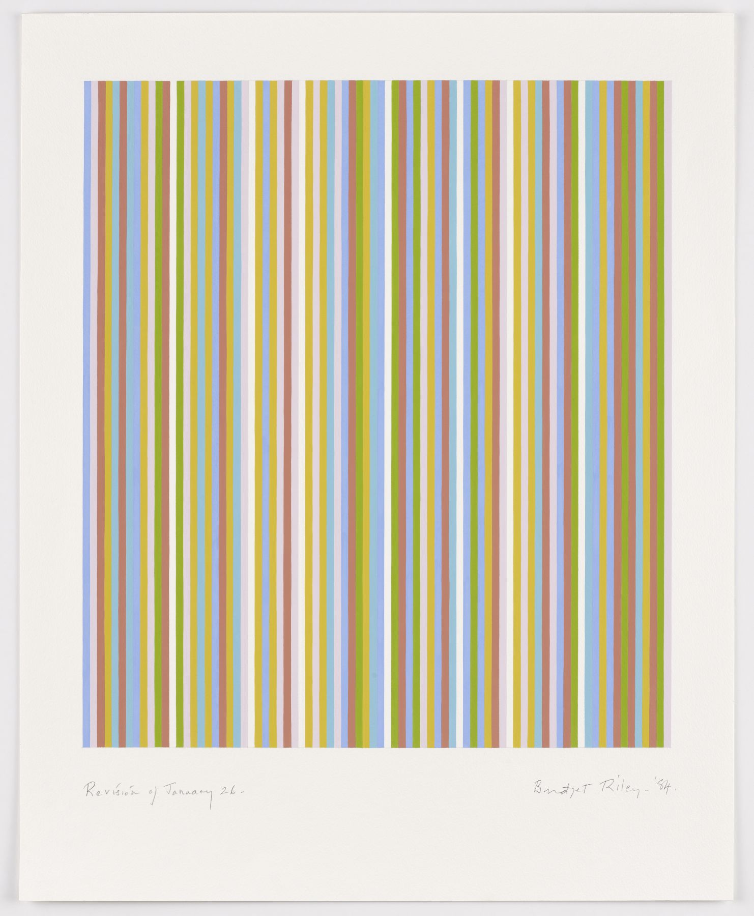 Bridget Riley, Revision of January, 1984