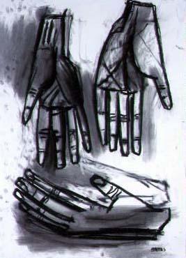 David Bates Hands III,2002