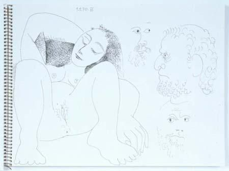 Studies of Heads and Reclining Woman