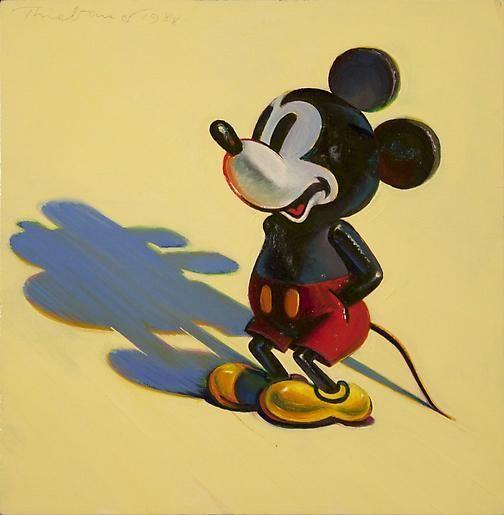 Wayne Thiebaud Mickey Mouse, 1988