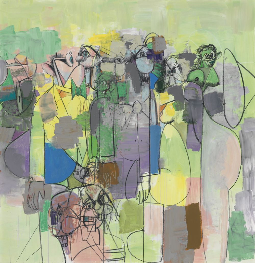George Condo, Abstracted Figures, 2011