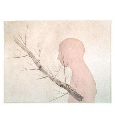Enrique Martinez Celaya, Figure and Birch (Larks), 2002