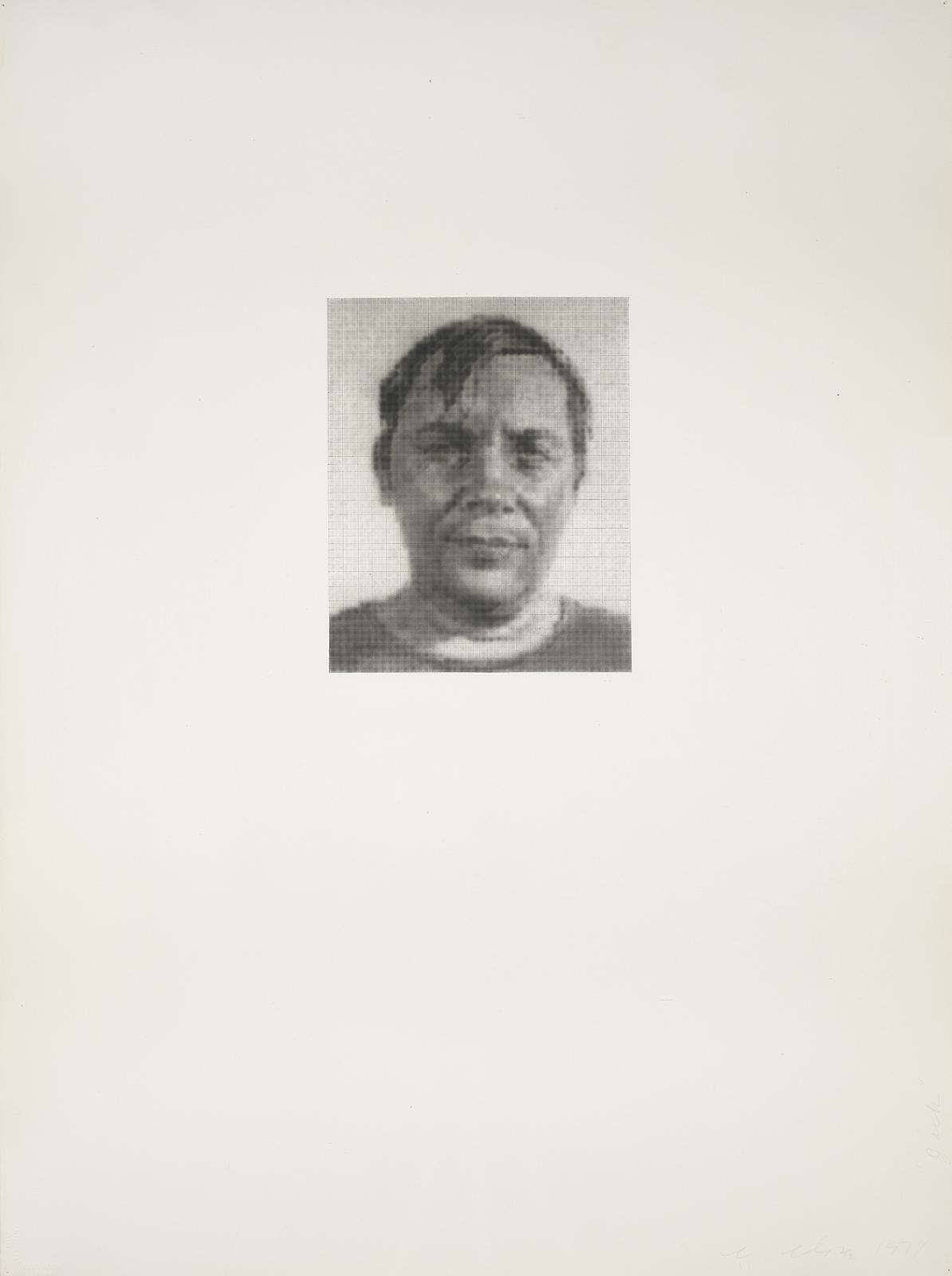 Chuck Close Jack B., 1974