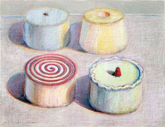 Wayne Thiebaud Four Cakes, 1996
