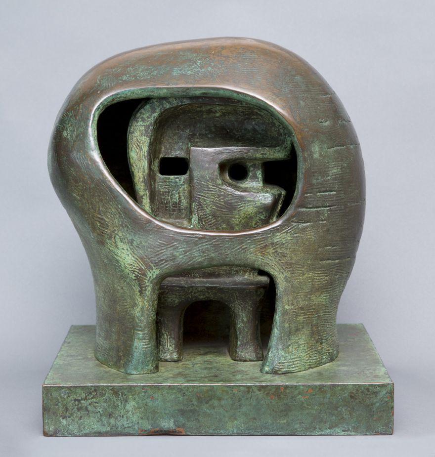 Henry Moore, Helmet Head, No. 3, 1960