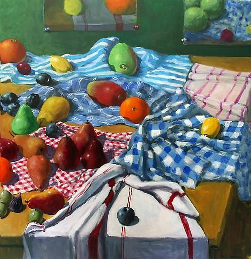 Paul Wonner Fruit and Kitchen Towels, 2001