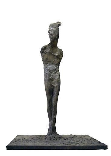 Nathan Oliveira Standing Figure II (hair bent back)
