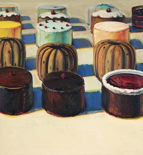 Wayne Thiebaud Various Cakes, 1981