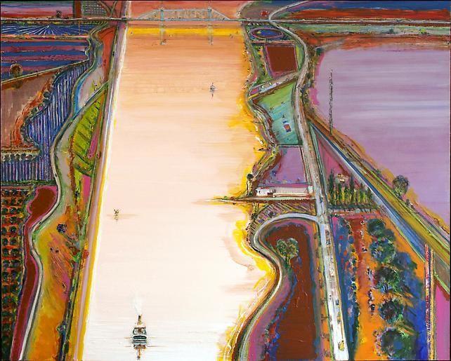 Wayne Thiebaud River Sides, 2007