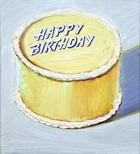 Wayne Thiebaud Happy Birthday Cake, 1975