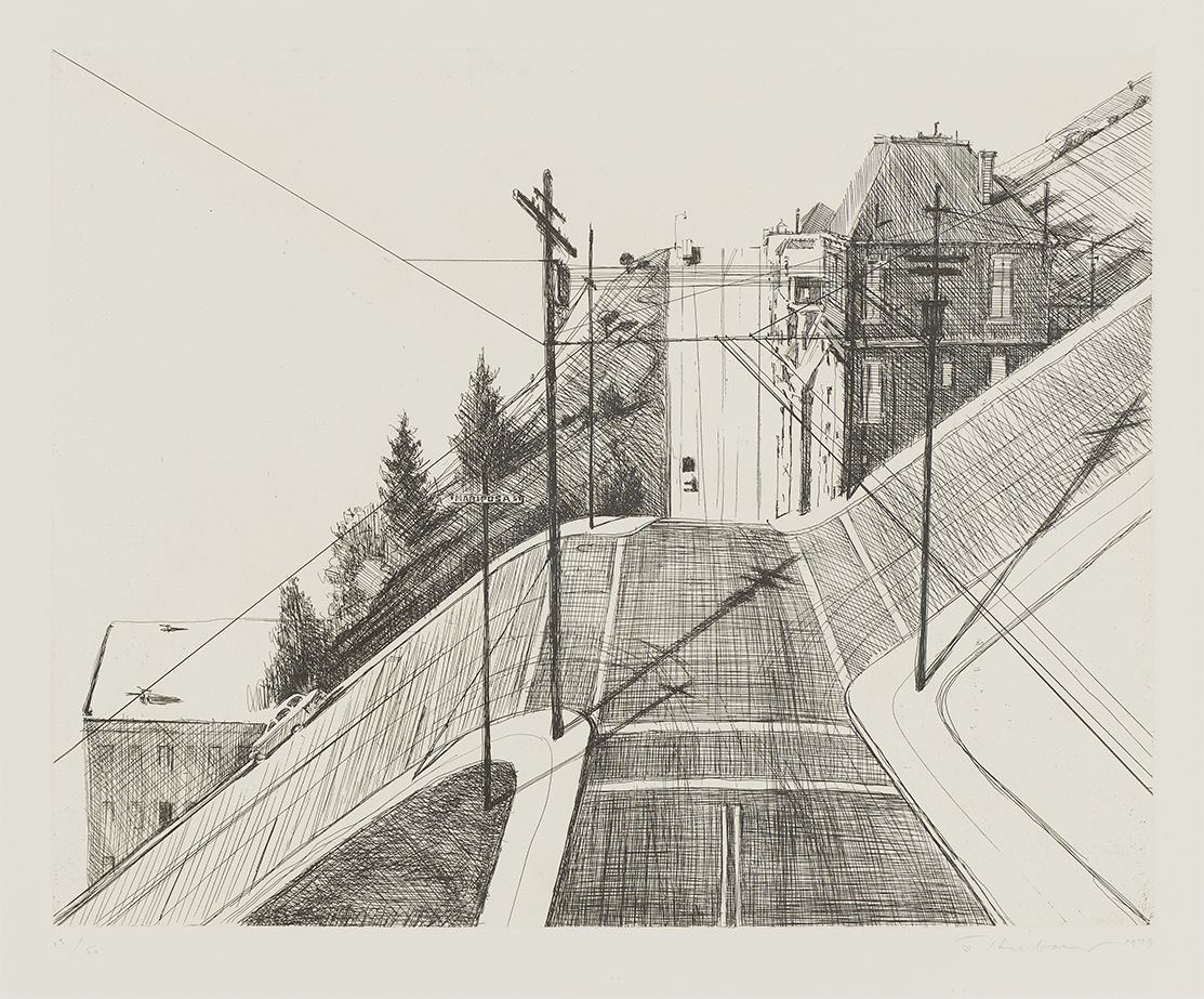 Wayne Thiebaud Down Mariposa, from Recent Etchings II, 1979