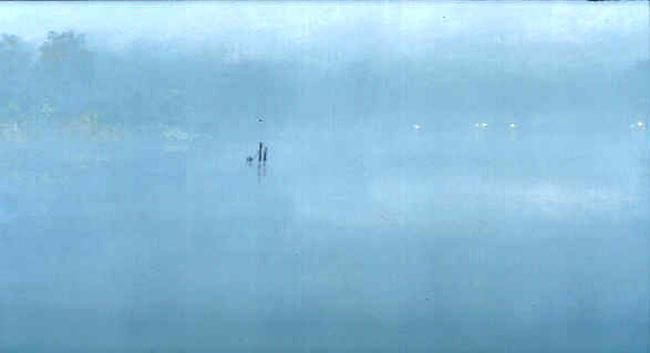 Stephen Hannock Morning Fog: Green Light