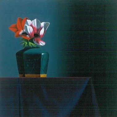 Bruce Cohen Small still life with Anenome and Chinese Pot, 2001