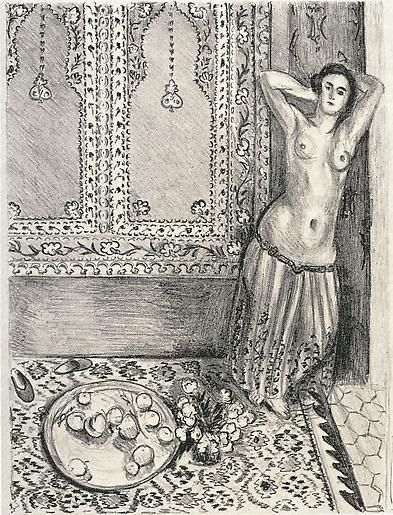 Odalisque debout au plateau de fruits 1924,