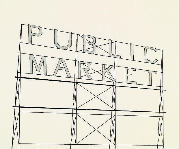 Ed Ruscha Public Market