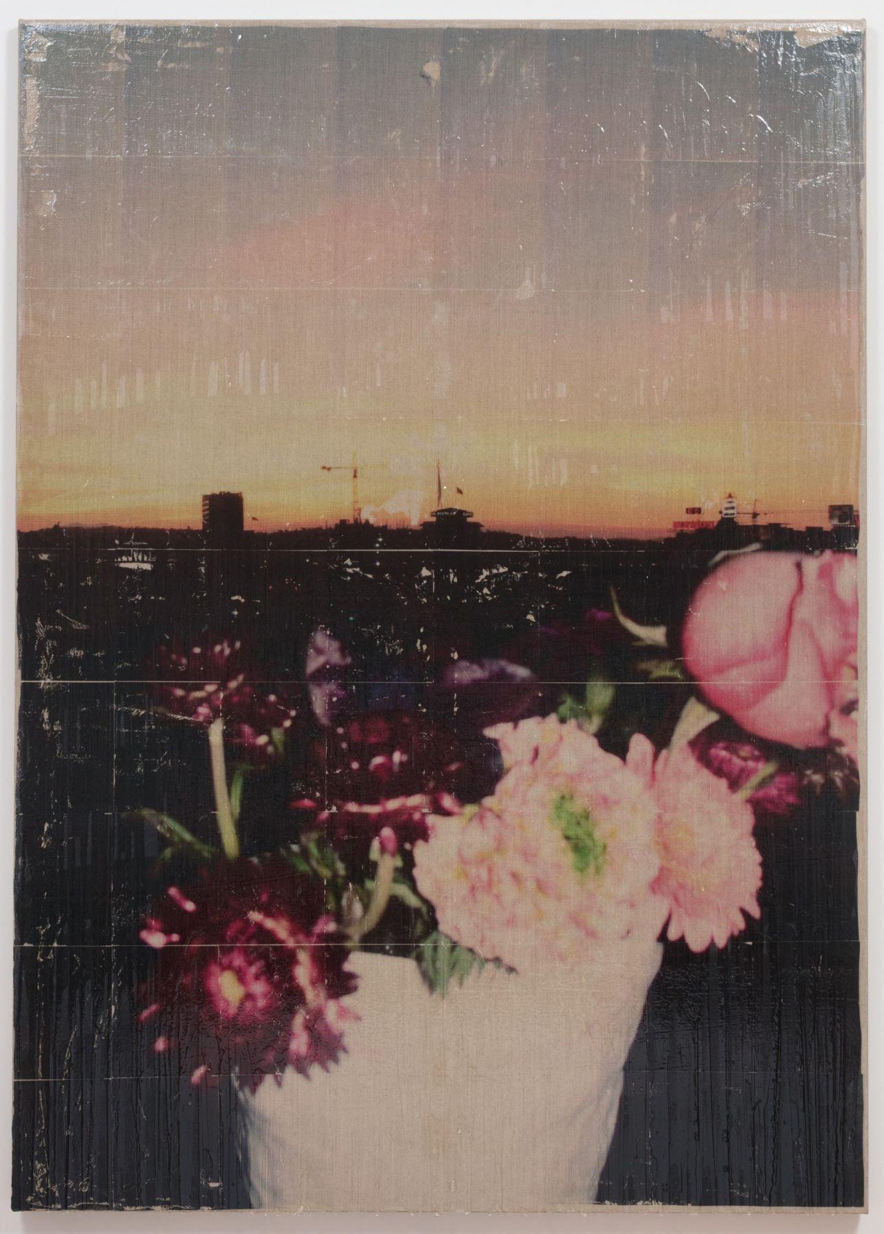 Parker Ito Capitol Records Shits Toots (sunrise bouquet w/ crane), 2016