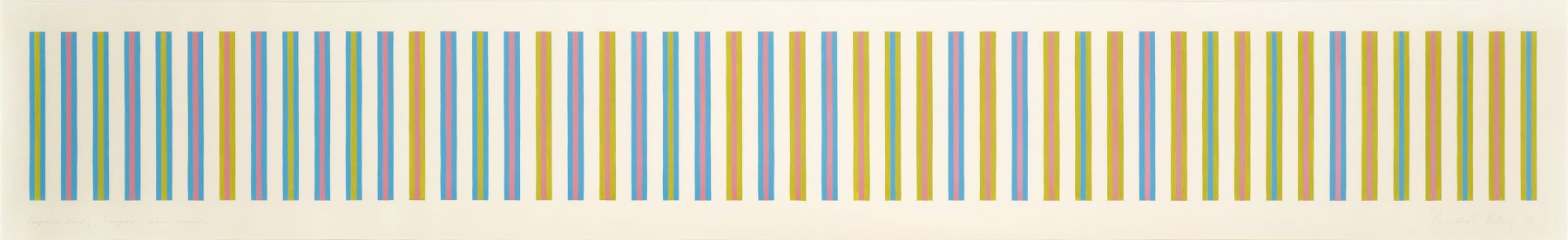 Bridget Riley, Sequence Study 2, Turquoise, Ochre, Magenta, 1973