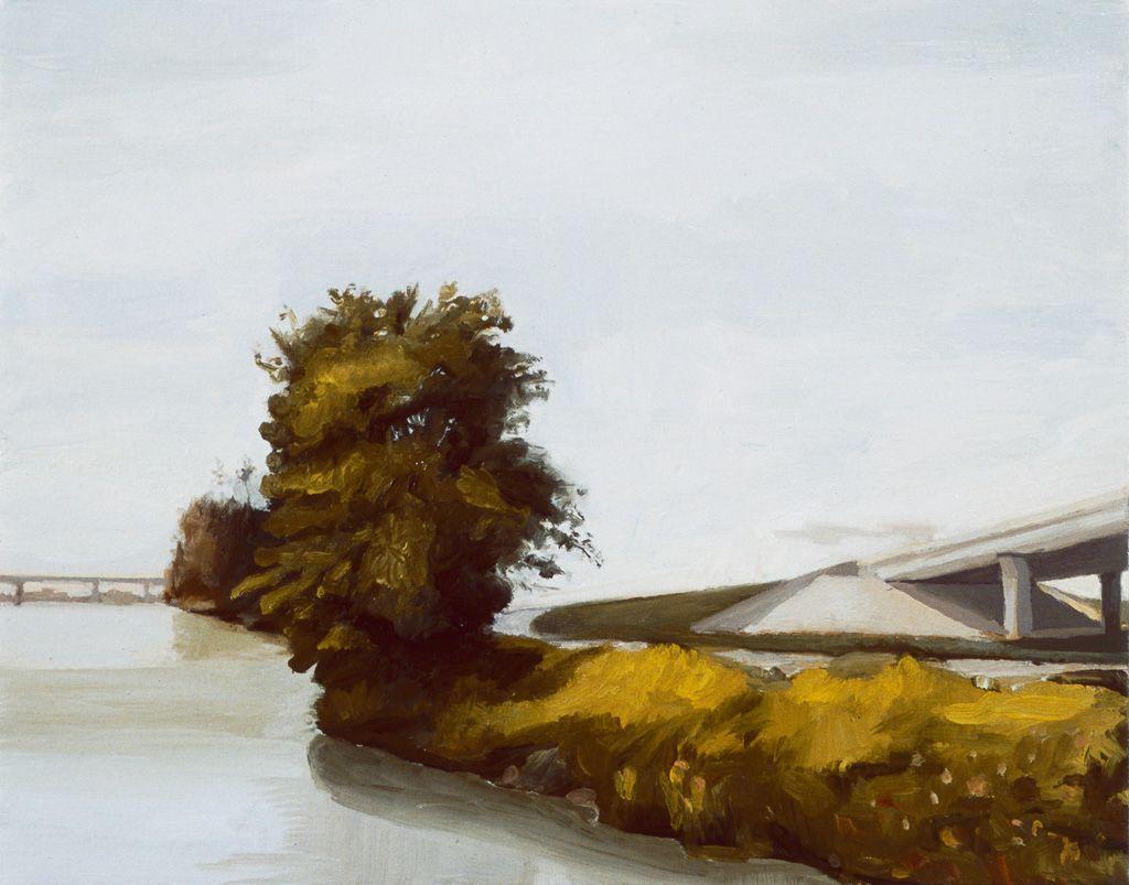Derek Root, River, Tree, Bridge, 2005