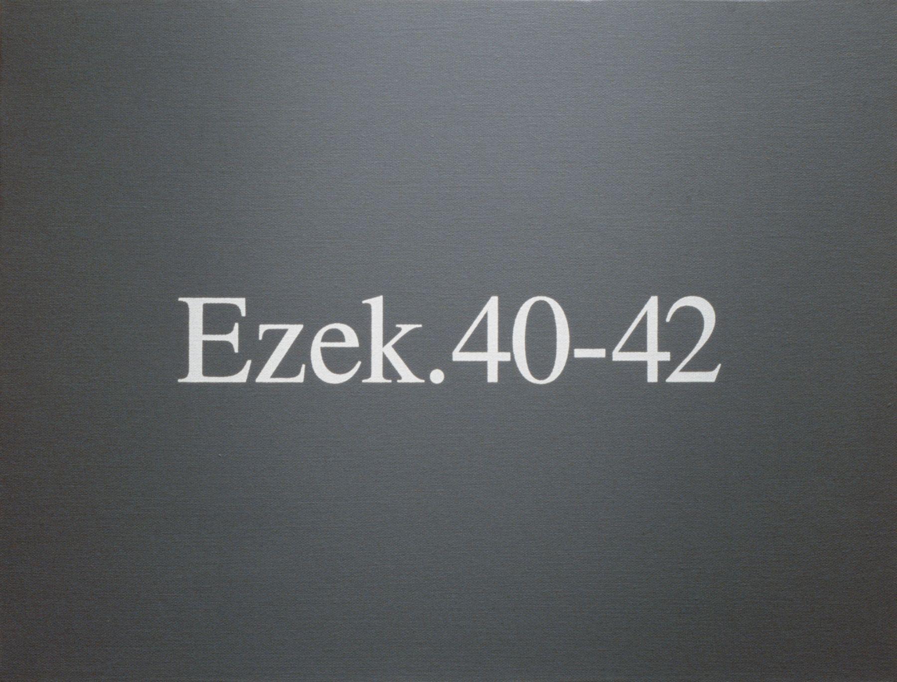 Rodney Graham, Ezek. 40-42, 1992